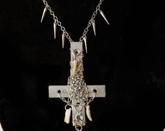 UNHOLY II. Cross necklace,stainless steal