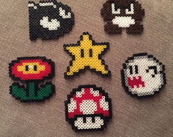 Magnet Mario Bros Pixels (HAMA beads)