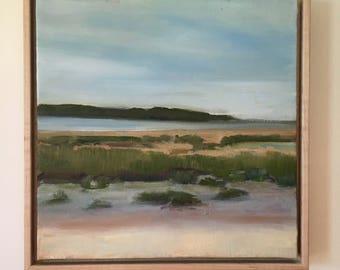 Original Oil Painting, Herring River Flats