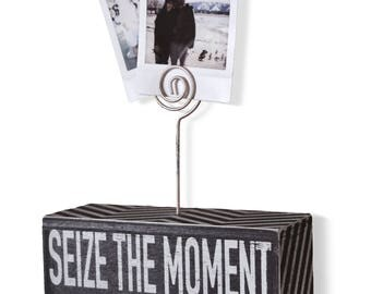 Sarco&Friends Home Decor Decorative 5'' x 3'' Photo Block with Rustic Wire to Hang Pictures, Photographs, and Polaroids
