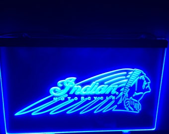 Indian Motorcycle Lighted Sign
