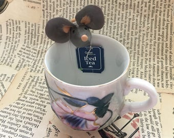 Mouse tea bag holder CUTE! Handmade