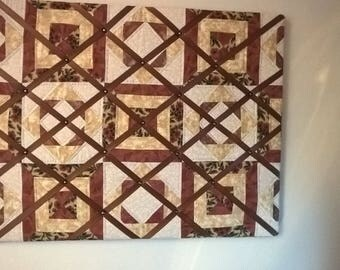 Quilted Memo board handmade  76cm x 61 cm