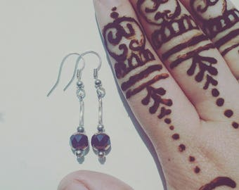 Black, Gold and Silver Earrings #011