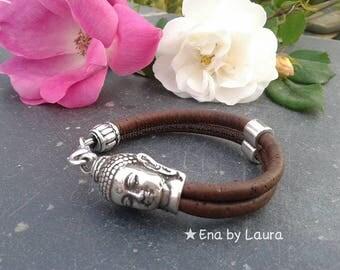 Buddha Bracelet (unisex) Cork
