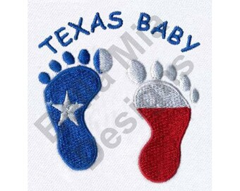 Texas Baby Footprints - Machine Embroidery Design