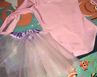 pink Ballet Leotard and tutu skirt