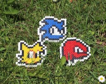 Pixel Art / Bead sprite, Sonic, Tails, Knuckles