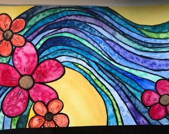 Tropical Ride--Original Watercolor Painting