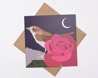 Nightingale greeting card
