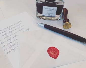 Handwritten letter filled with *gasp* handwritten words, thoughts, phrases, and anything I think may make your day a little brighter