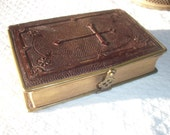 19thC French Prayer Book Paroissien Romain Missel Bishop of Limoges ~ Way of the Cross