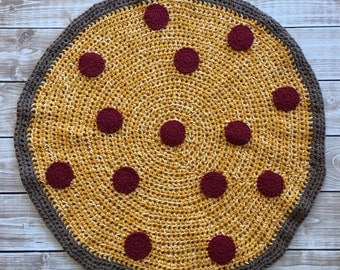 Crocheted Full Pizza Blanket Pattern