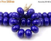 Boxing Week Sale 246 Dark Cobalt Blue Blue Spacers - Handmade Lampwork Glass Beads 5mm - SRA (Set of 10 Spacer Beads)