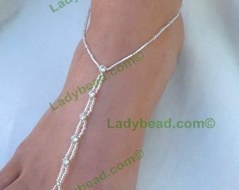 Pack of 3 Pair! Barefoot Sandals Rhinestone Bling On Sale! Ladybead Barefoot Designs Discount Save money by buying 3 pair at a time.