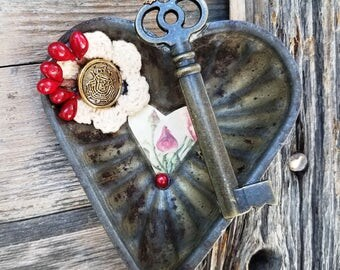 Vintage Heart Tart Pan Wall Art - home decor