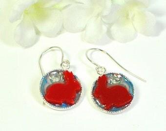 Bunny Earrings Love Buns - Bunny Earrings - Pet Bunny Rabbit - Gift for Her - Cute Bunny Jewelry - Nature Jewelry - Rabbit Earrings -Animal