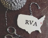 RVA Pottery Ornament - Richmond Virginia
