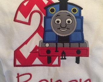 Custom Boutique Thomas the Train Birthday Shirt