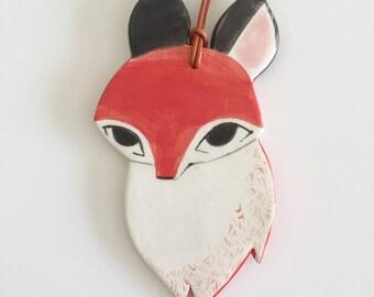 Ceramic Fox Ornament