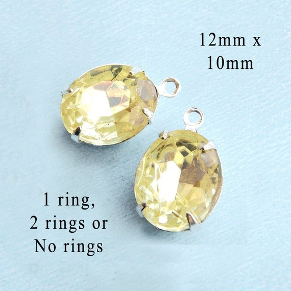 jonquil oval rhinestone beads ...great for DIY gifts for Mom