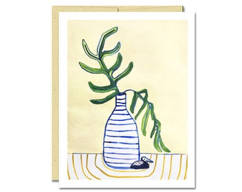 Polypody Fern Houseplant Notecard // Single Card // Everyday Card // Blank Notecard // Cute Card // NW Artist // Rachel Austin