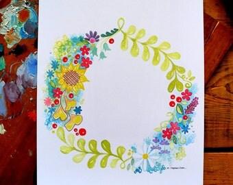 wreath - round - 8 x 10 inches