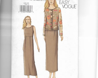 Vogue Misses' Top and Skirt Pattern 7584