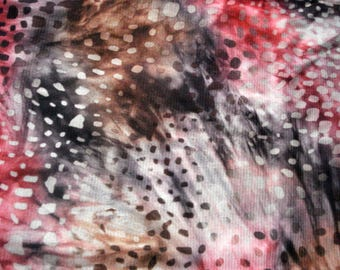Animal Print Knit Fabric One Yard Piece