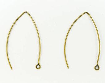 45mm Antique Brass Modern Ear Wire #EFE102