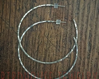 Birdhouse Jewelry - Hammered Hoops
