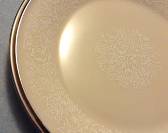 """Vintage 1970 Lenox Moonspun Bread and Butter Plate(s) 6 3/4"""""""