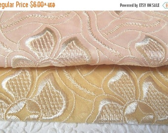 CLEARANCE - Embroidered floral fabric, 2 colors