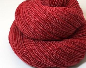 Handspun Yarn - Autumn Red - 345 Yards