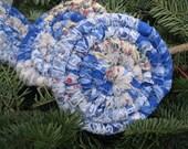 SPECIAL ORDER Reserved  for Karen  COASTER set   of  four blue blend