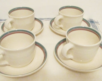 Pfaltzgraff Cups and Saucers Juniper Pattern