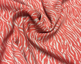 Poly Rayon  Print Fabric 1-1/8 Yards