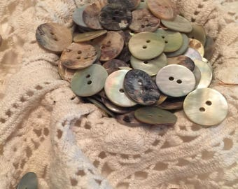 Mother Of Pearl Buttons 2cm