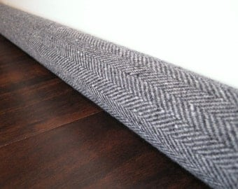 HERRINGBONE door draft stopper / gray herringbone draft snake