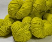 New Yarn New Color Carousel DK Merino Superwash by Yarn Hollow in Phosphorus Semi Solid 4 ounces 280 yards