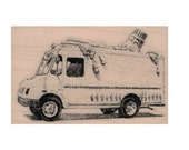 Ice cream truck  rubber stamp Food cookies  stamps stamping no 20020