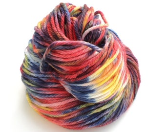 Crayons, Hand Dyed, Hand Painted, Bulky, Yarn