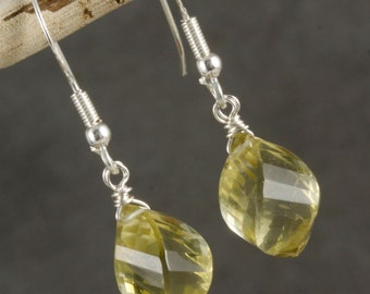 FINAL SALE - Lemon Quartz Dangle Earrings