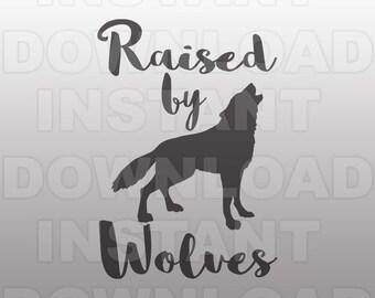 Raised by Wolves SVG File,Wolf SVG File,Animal SVG File, cricut svg,silhouette svg,svg cuts,cuttable svg,svg cut file,vector svg,vinyl files