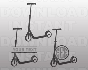 Kids Scooter SVG File,Scooter Cut File-Vector Art for Commercial & Personal Use- Cricut Air,Silhouette,Cameo,Vinyl Decal,Iron on Vinyl