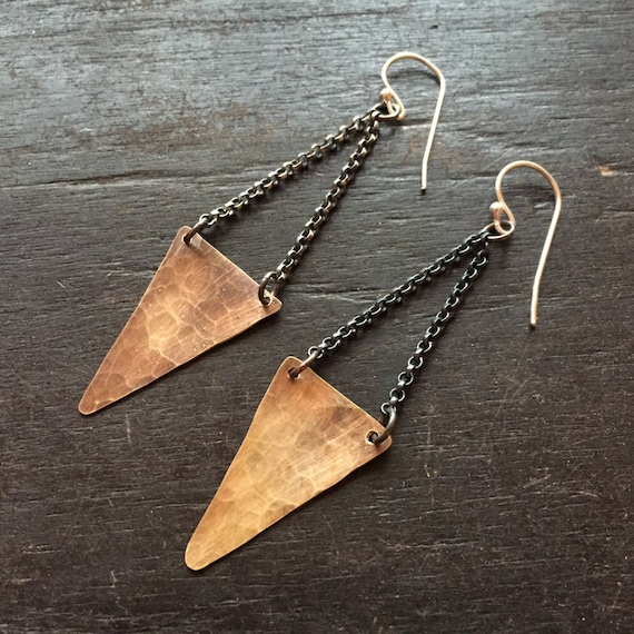 FOR RACHEL Small Angular Earrings