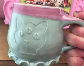 3 Eyed Kitty Mug