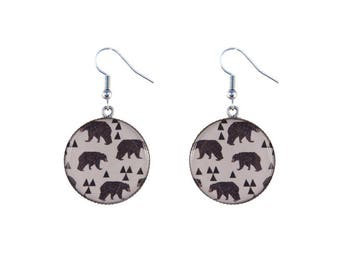 Bears print earrings
