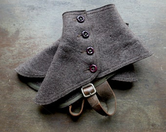 Heather Brown Wool Spats
