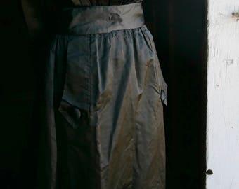 Black Art Deco Style Skirt Size Small